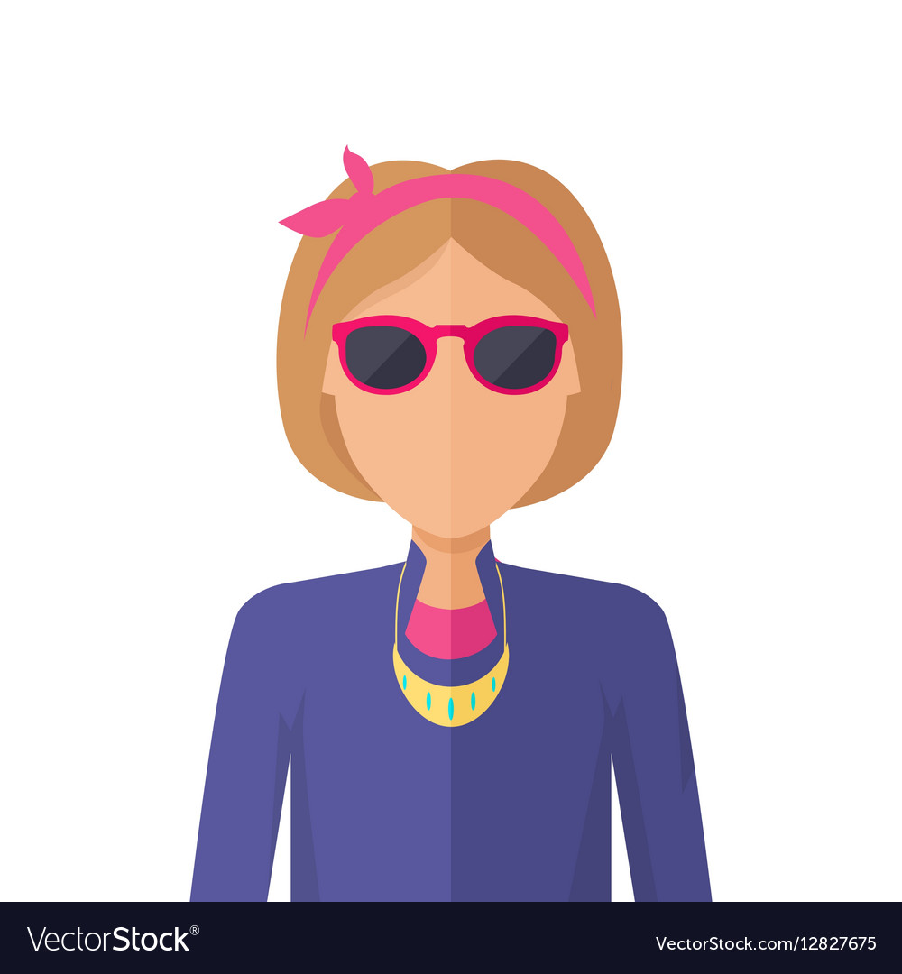 Young Woman Avatar without Facial Features vector image