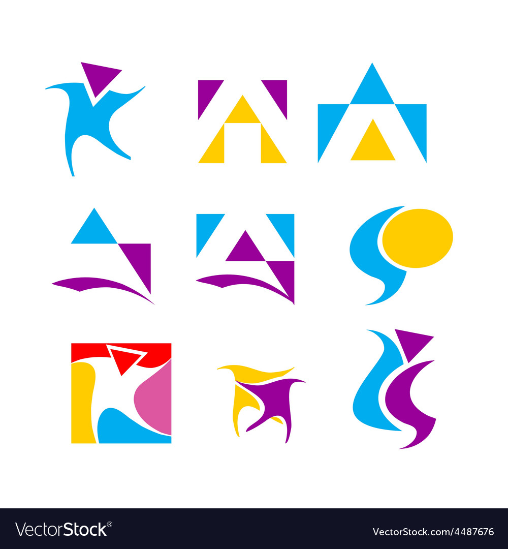 Icon design element set vector image