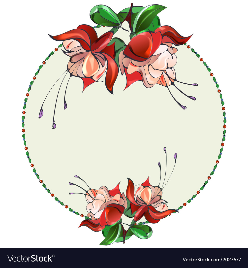 Flora3 w vector image
