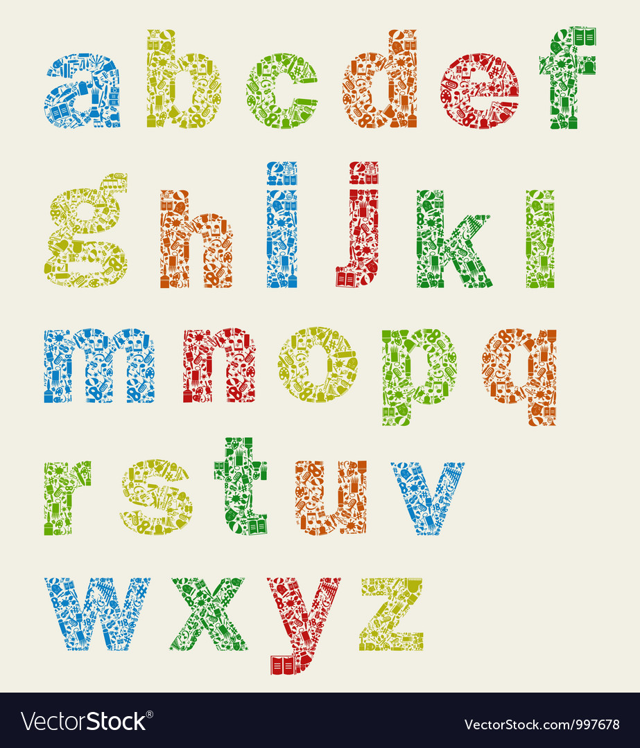 Art alphabet Vector Image