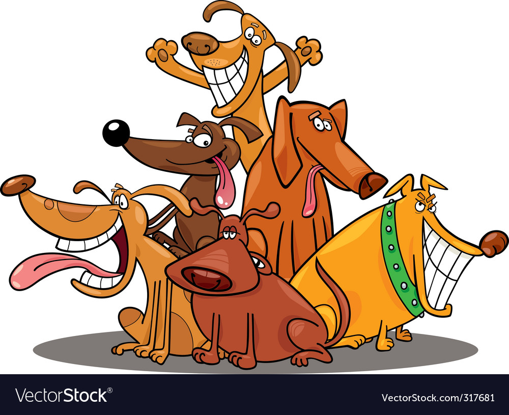 Funny dogs vector image