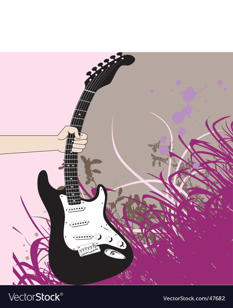 Giutar hand vector image