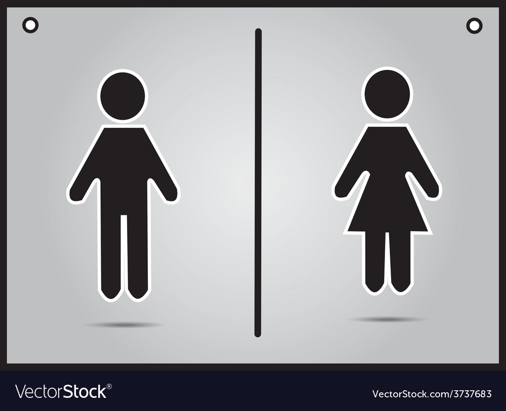 Men And Women Bathroom Sign Alluring Men And Women Restroom Sign Royalty Free Vector Image Design Ideas