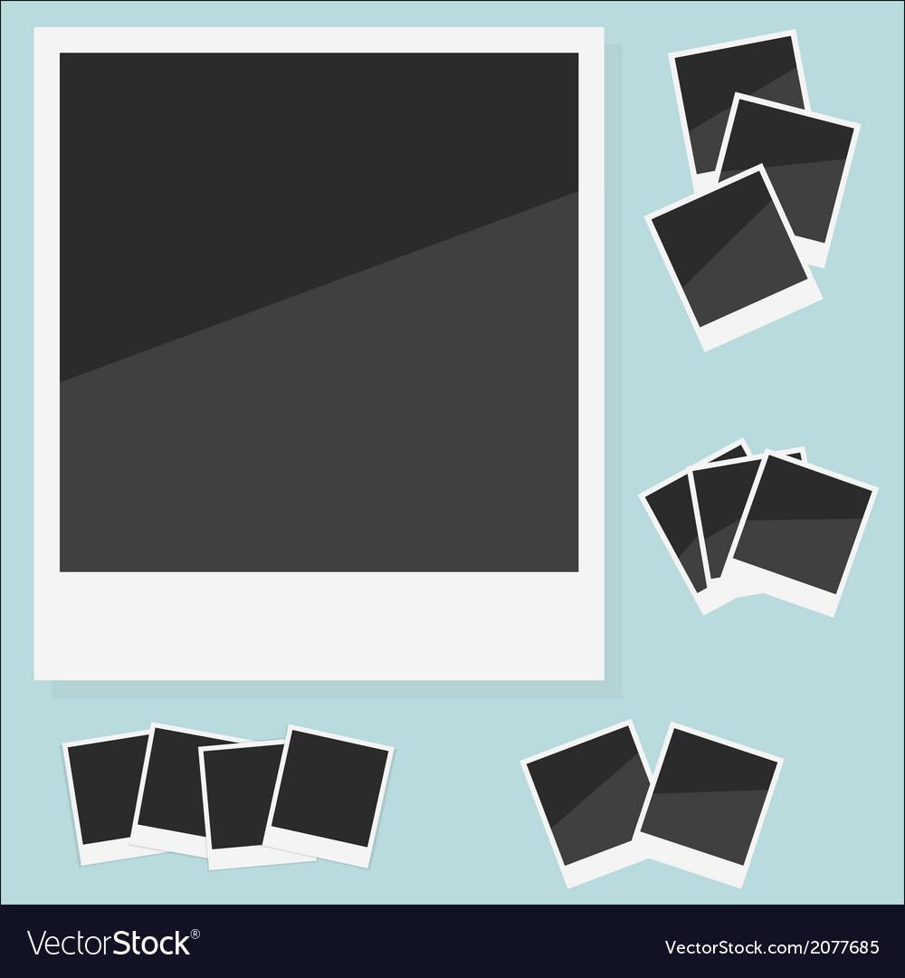 Empty photo Polaroid vector image