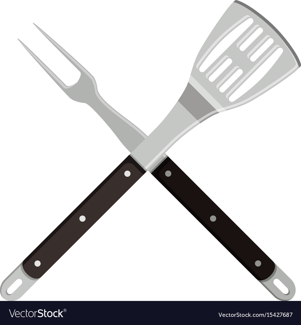 Grill tools icon vector image