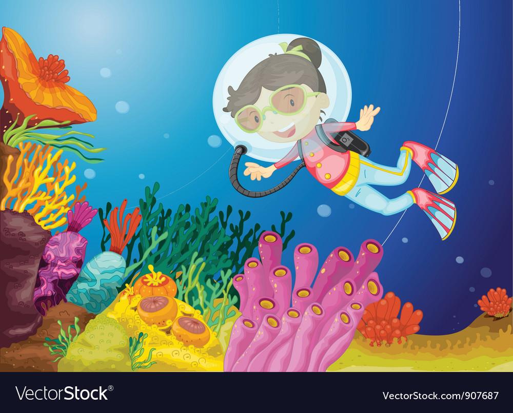 underwater scene royalty free vector image vectorstock