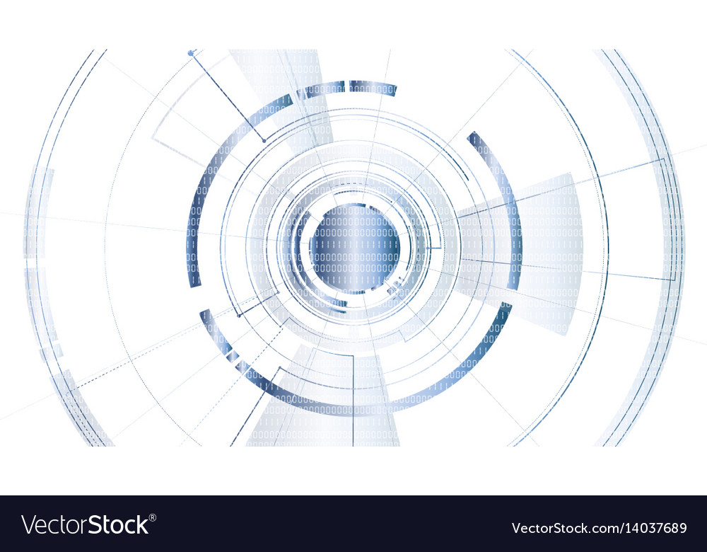 Abstract technological security save background vector image