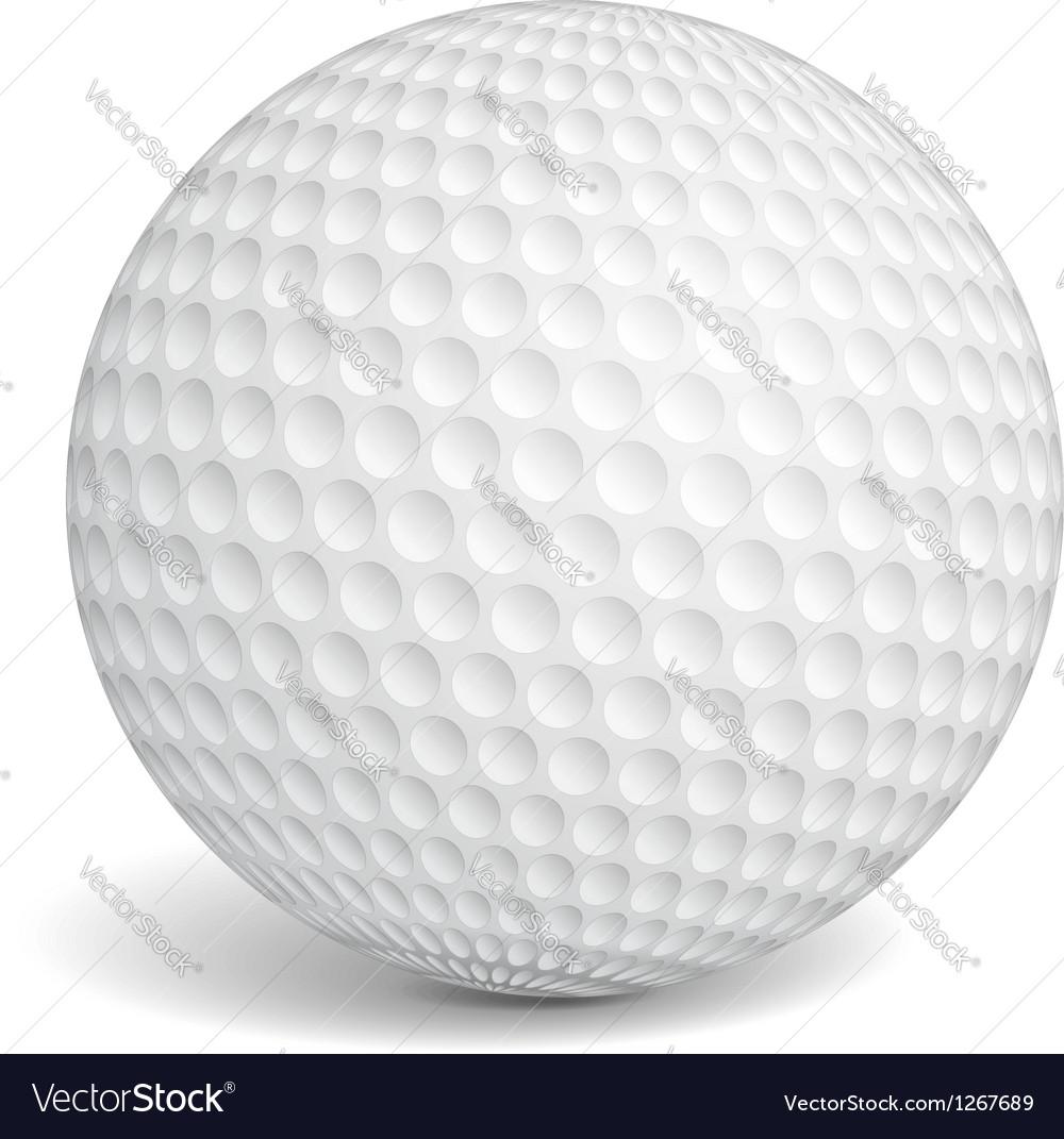 Golf Ball vector image