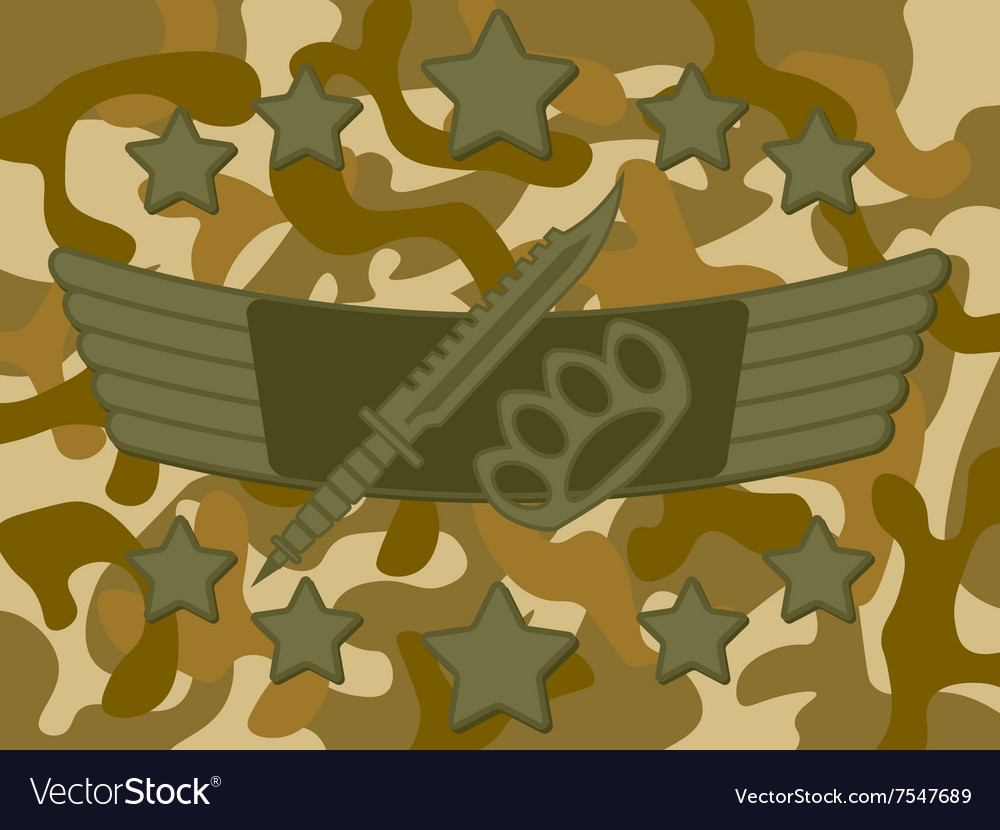 Military Logo Melee Combat vector image
