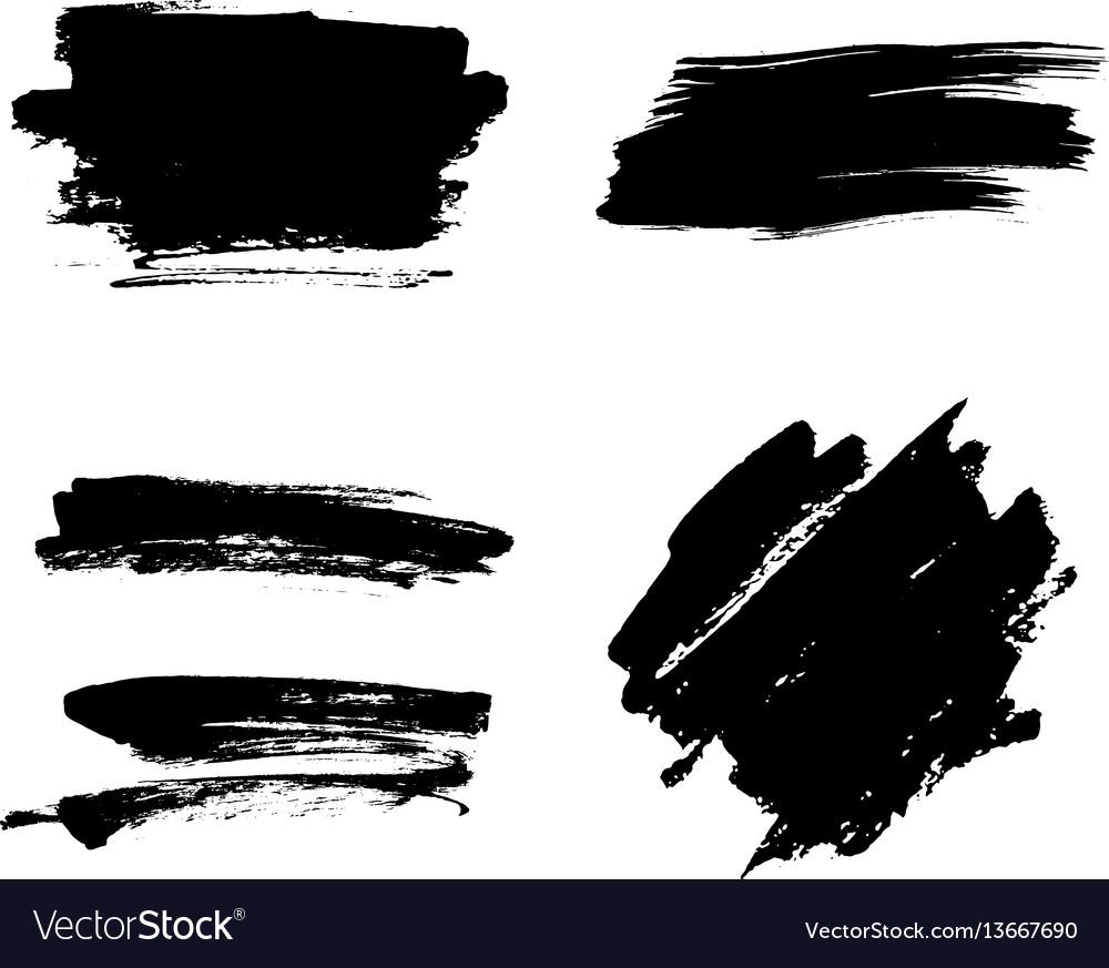 White Paint Brush Strokes