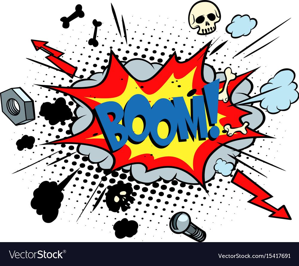 Boom comic pop art bubble vector image