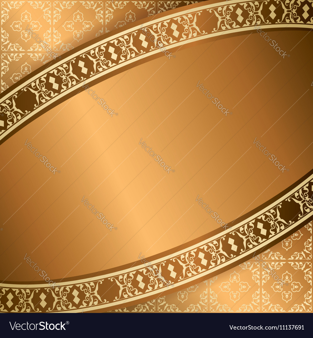 Brown background with central frame vector image