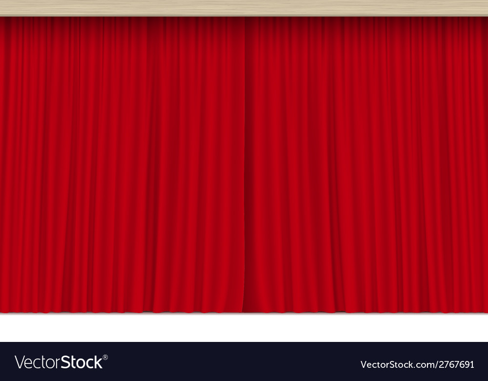 Scene with Isolated Red Curtains vector image