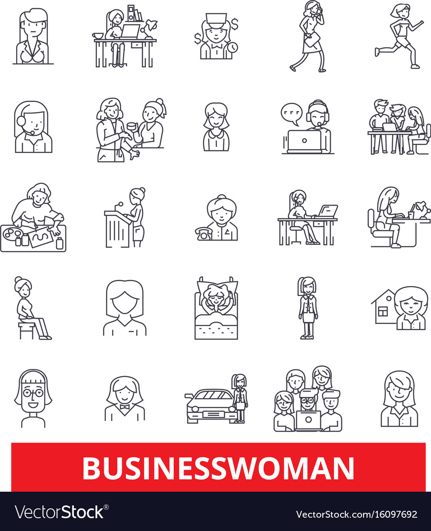 Business woman entepreneur person worker vector image