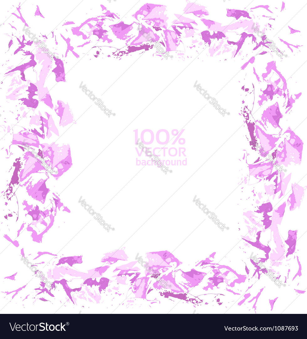 Abatract painted by brush pink background vector image