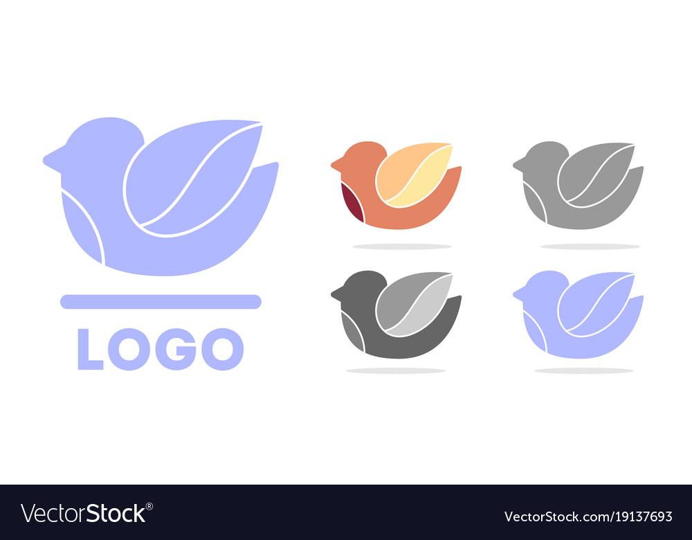 Bird logo dove silhouette vector image