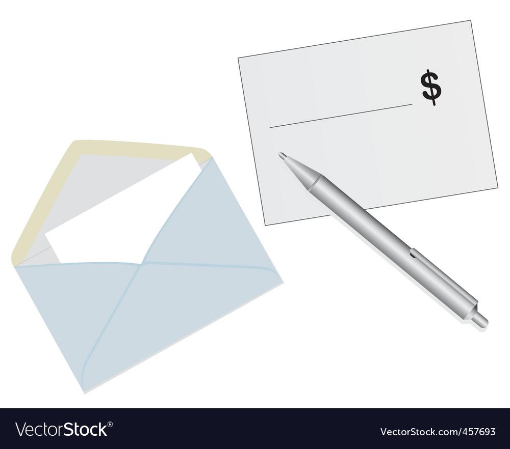Mailing envelope vector image