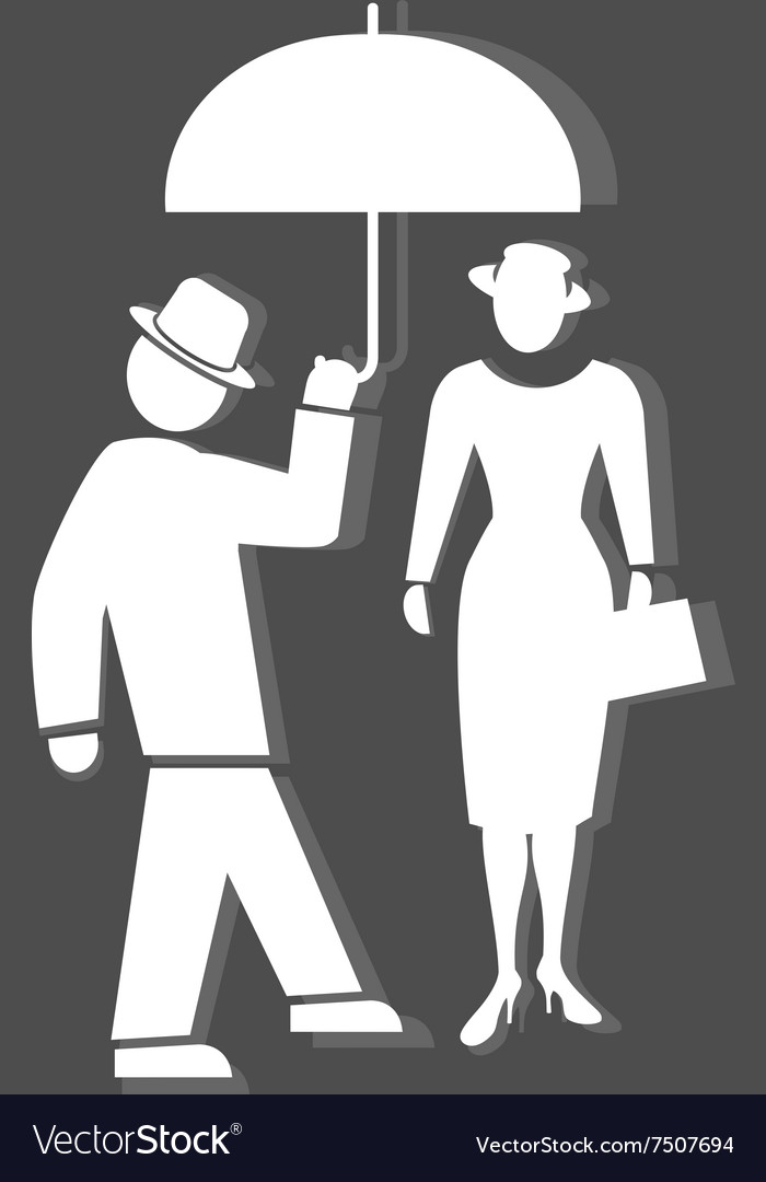 People icon Two person Meeting familiarity vector image