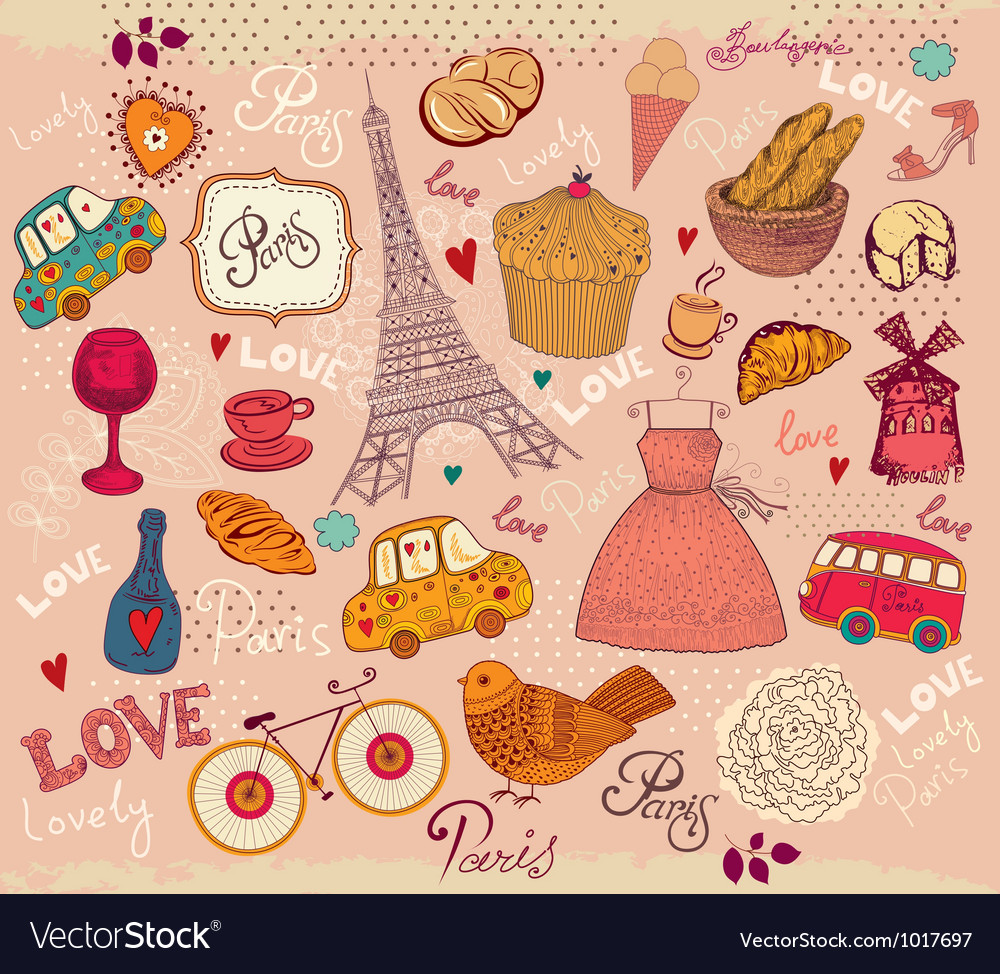 Parisian Background vector image