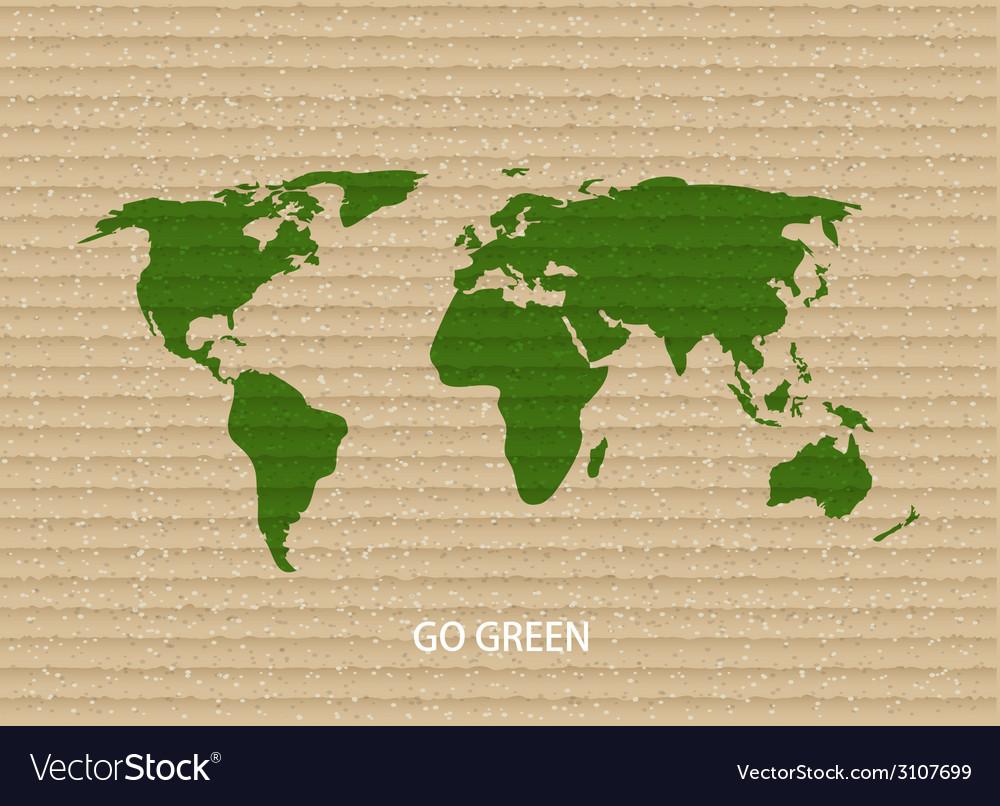 Modern go green background vector image