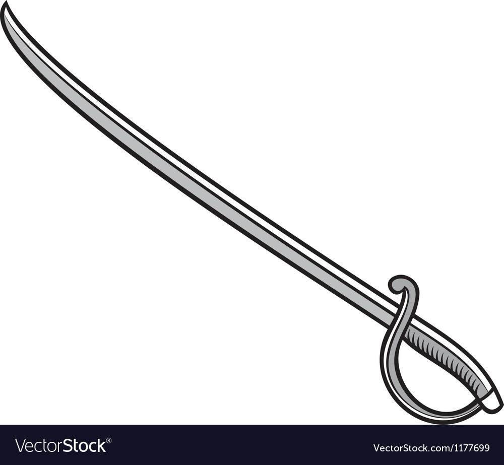 how to draw a sabre sword