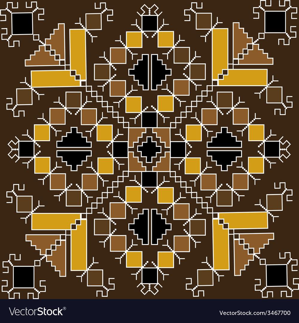 Ethnic motif in brown tones vector image