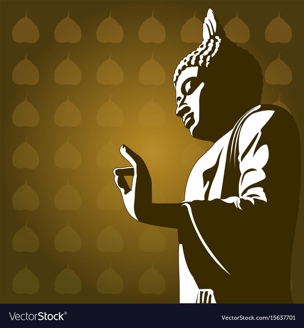Buddhist background vector image