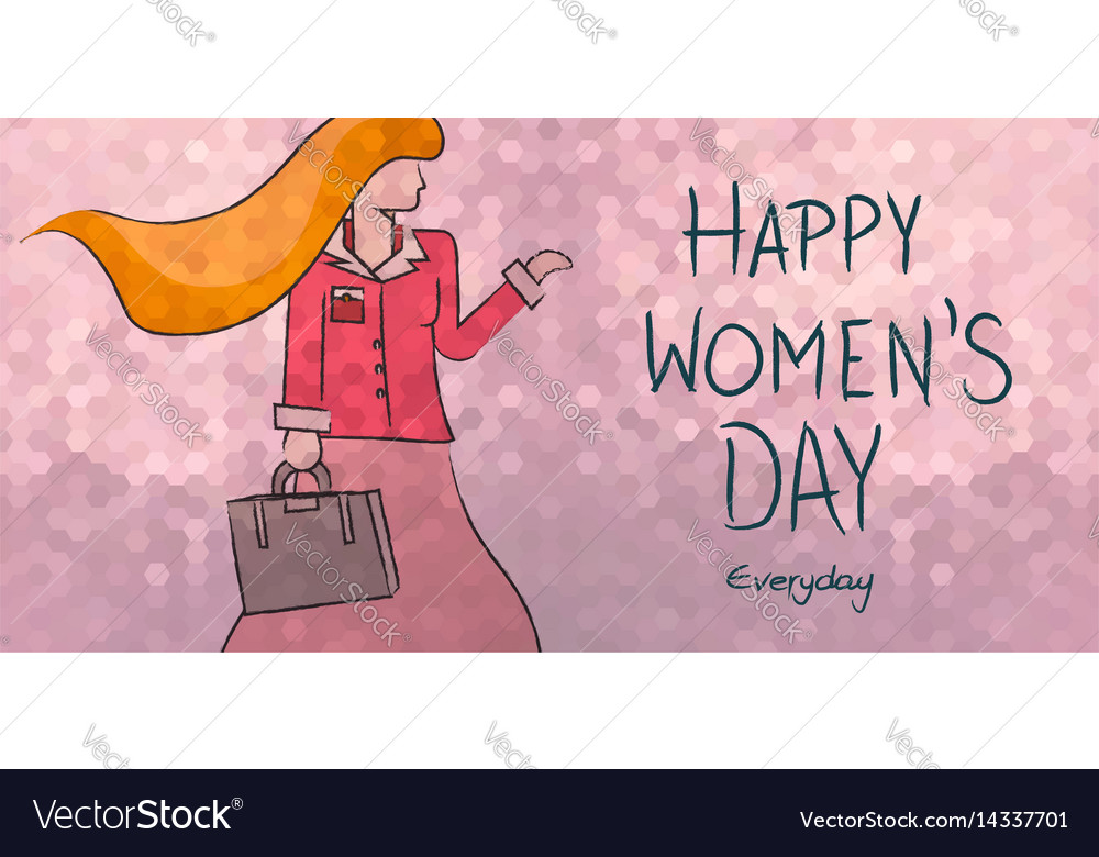 Happy womens day everyday business woman design vector image