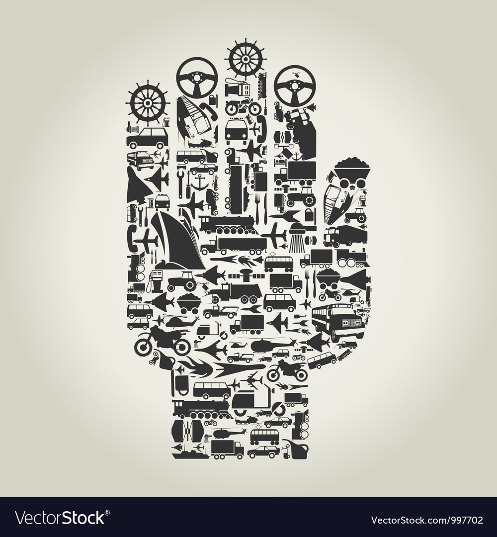 Hand transport vector image