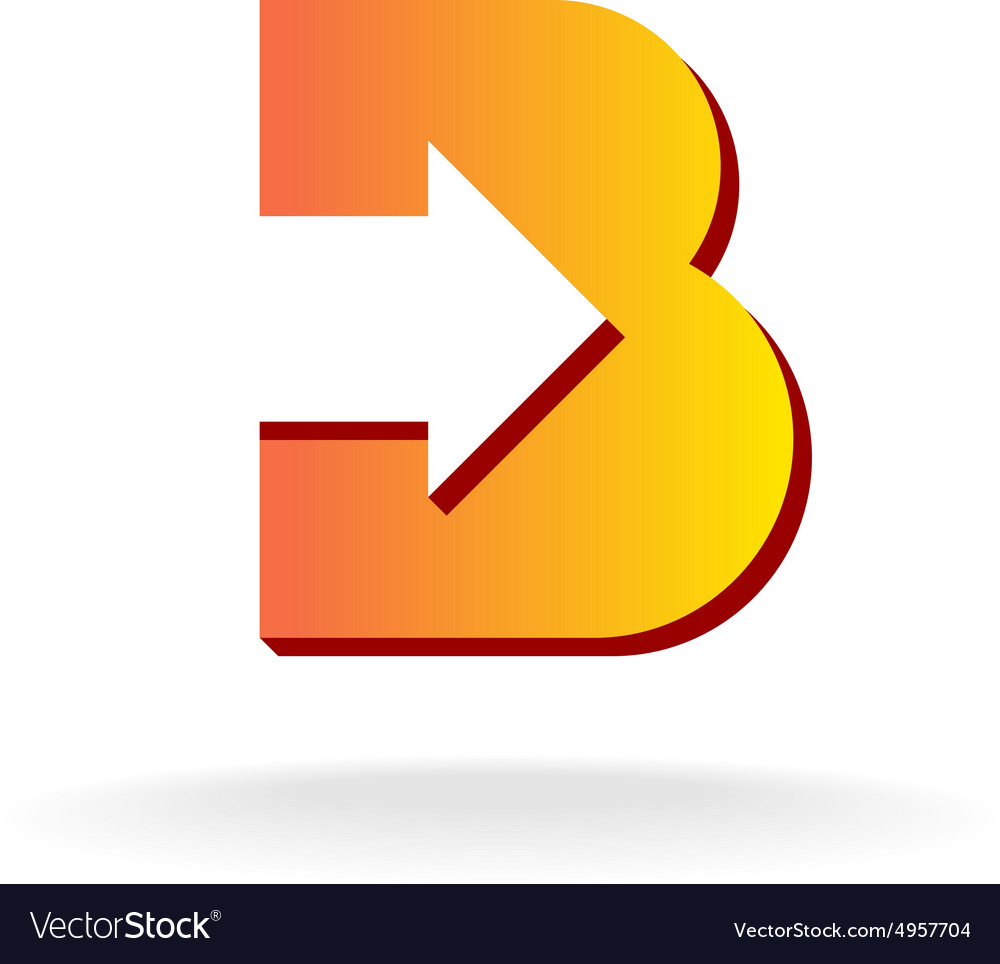 Letter B logo vector image