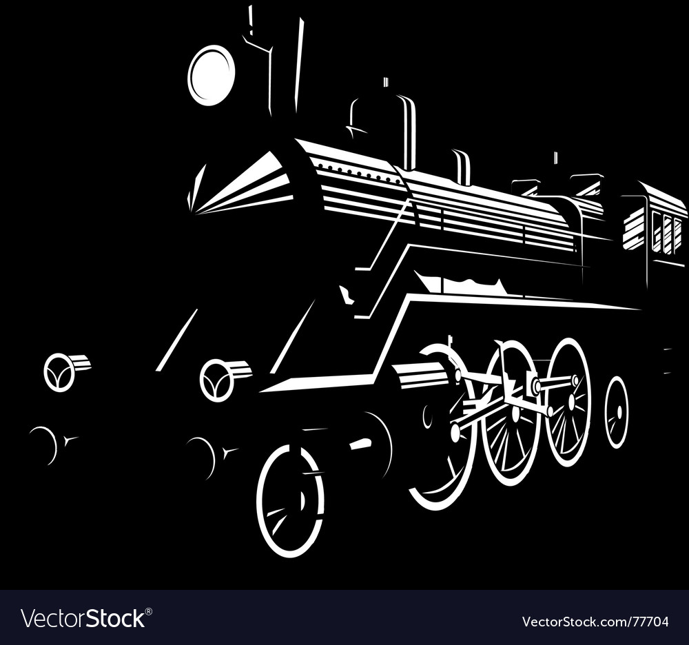 Steam engine vector image