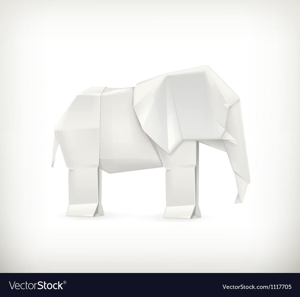 Origami elephant royalty free vector image vectorstock origami elephant vector image jeuxipadfo Choice Image