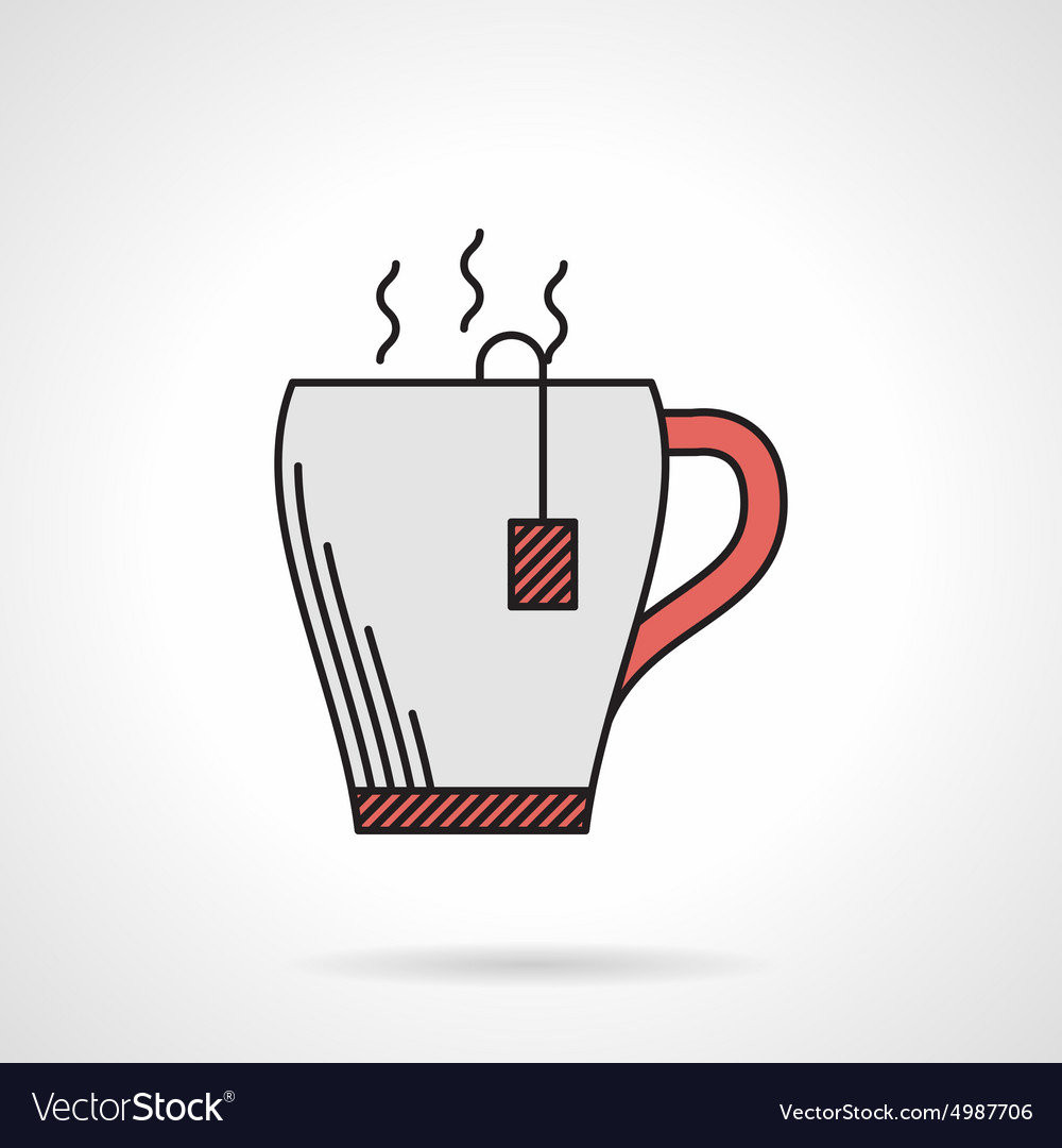 Elegant teacup flat color icon vector image
