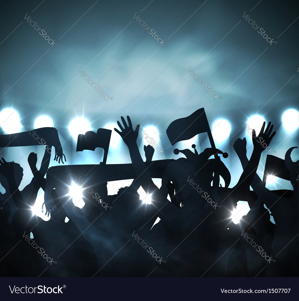 Fans in stands vector image