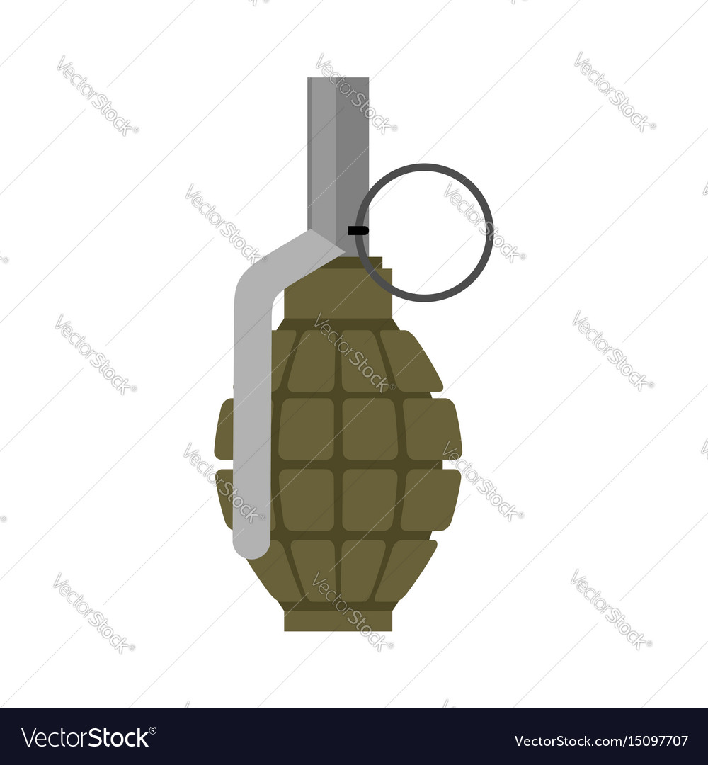 Military grenade green army explosives soldiery vector image
