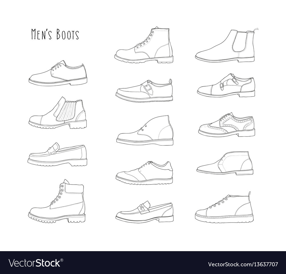 Set with different types of winter and demi men s vector image