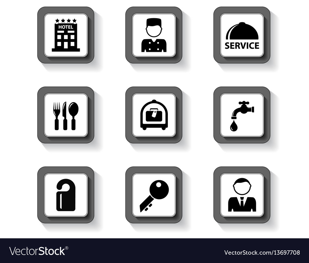 Concept hotel buttons vector image