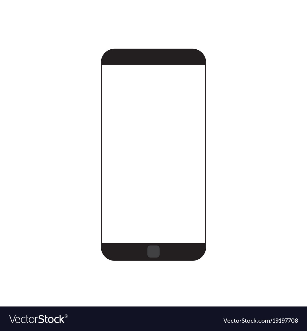 Modern cell smart phone with white empty screen vector image