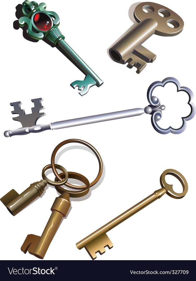 Old keys vector image