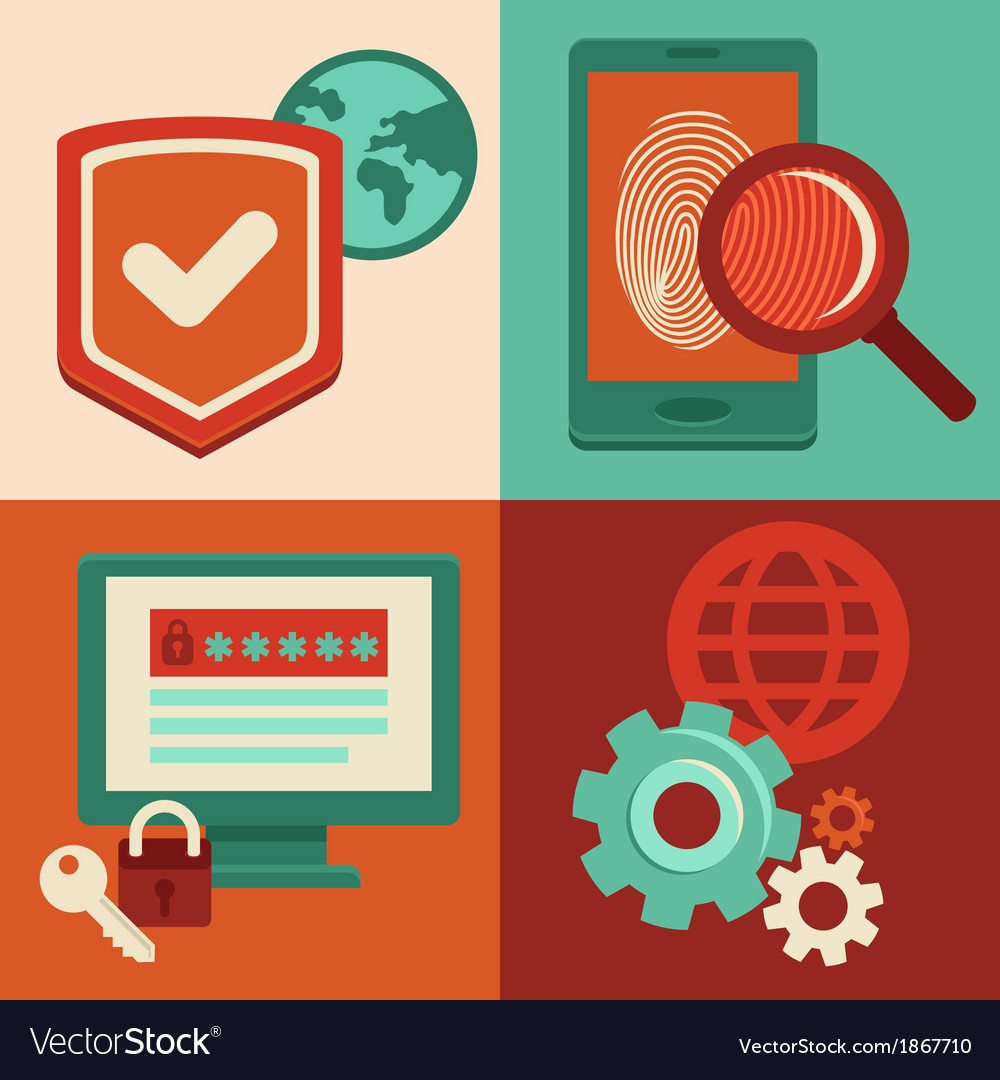 Internet security vector image
