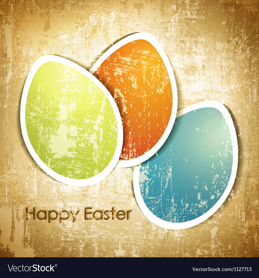 Vintage Easter vector image