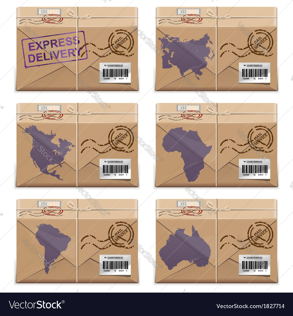 Parcel Icons vector image
