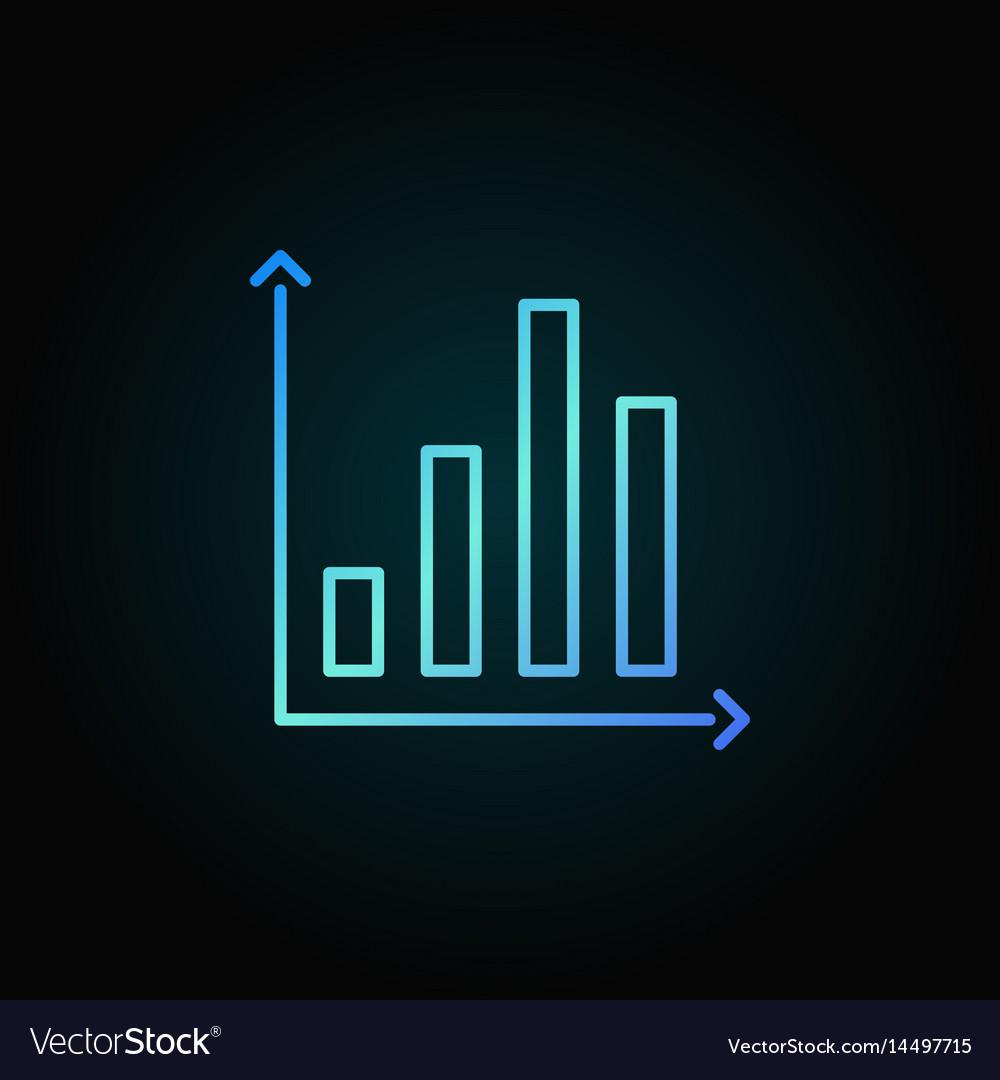 Bar chart colorful icon vector image