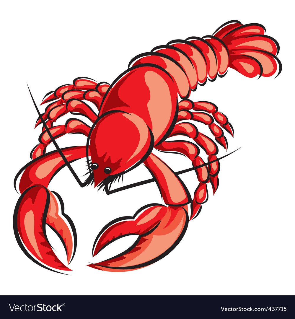 Boiled cancer vector image