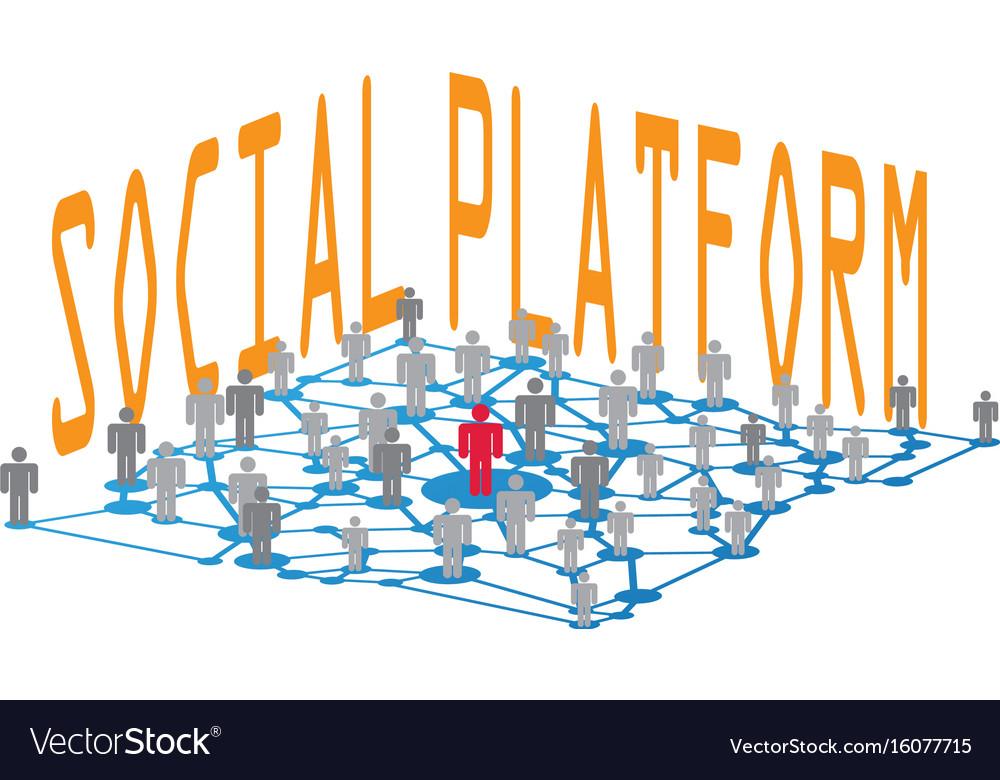 Social platform vector image
