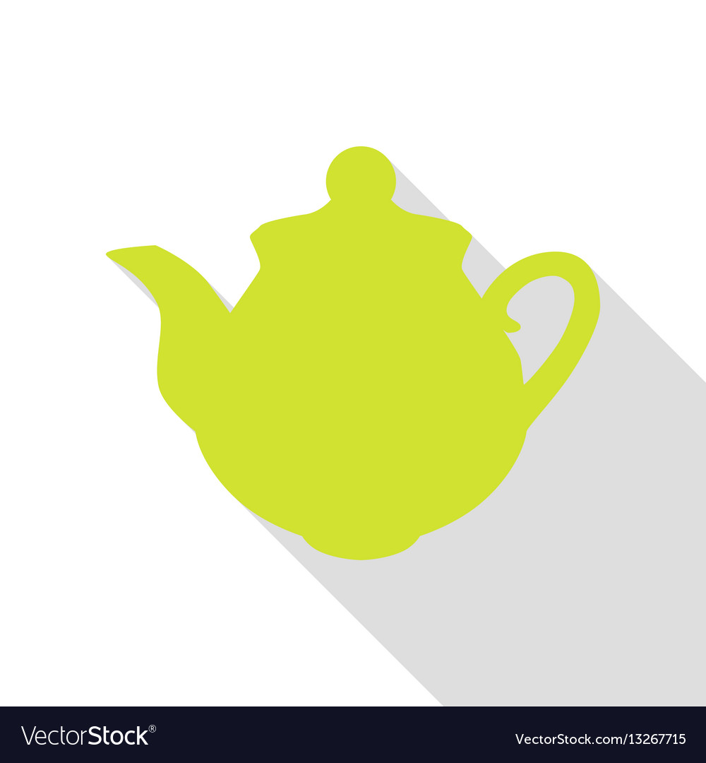 Tea maker sign pear icon with flat style shadow vector image