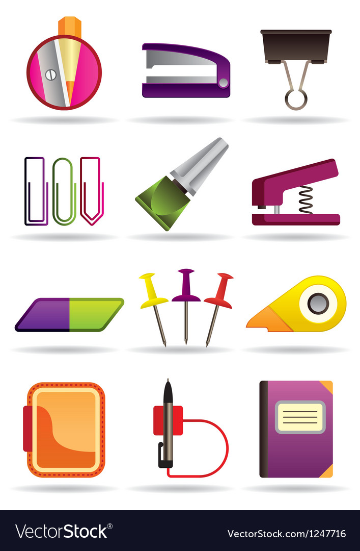 Office school and education bookstore tools vector image