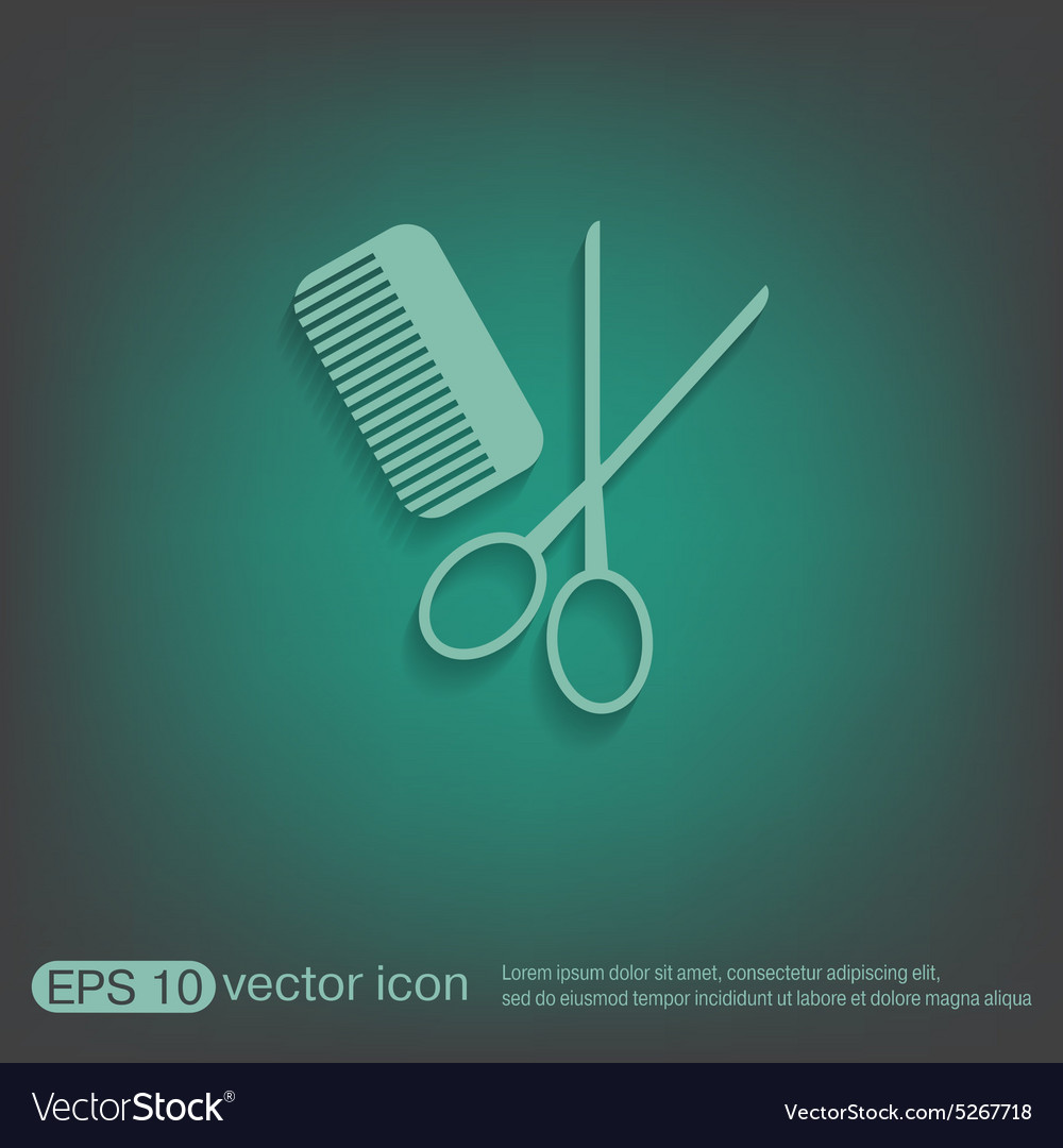 Comb scissors barbershop symbol of hair and beauty comb scissors barbershop symbol of hair and beauty vector image biocorpaavc