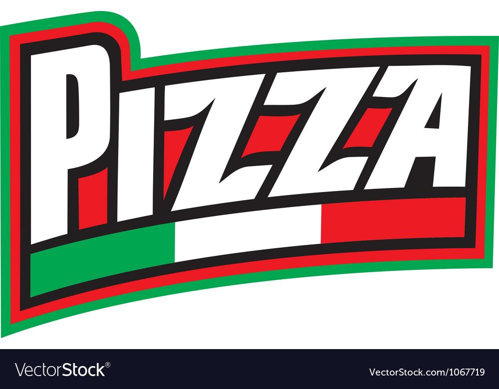 Pizza label design pizzeria label vector image