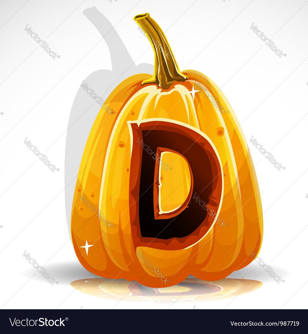 Halloween Pumpkin D vector image